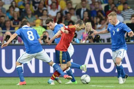 本届欧洲杯伊涅斯塔在6场比赛中利用精妙的脚法